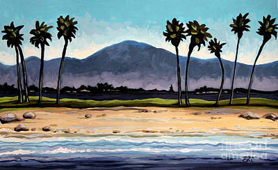 Tree Painting - Palm Tree Oasis by Elizabeth Robinette Tyndall