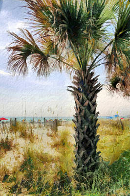 Palm Tree  Print by Theresa Campbell