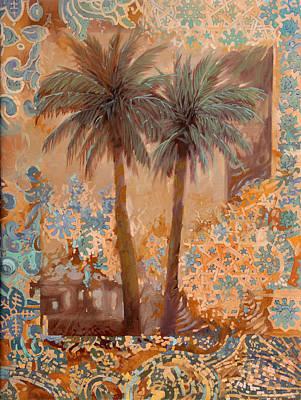 Arabesque Painting - Palme E Decori by Guido Borelli