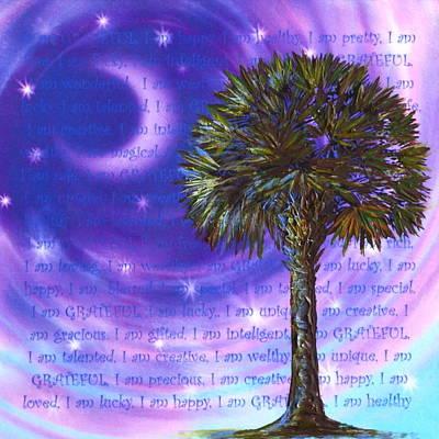 Palmetto Gratitude Print by Agata Lindquist