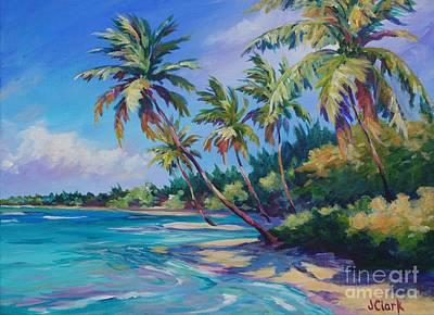 Bahamas Landscape Painting - Palms by John Clark