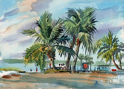 Sanibel Painting - Palms On Sanibel by Donald Maier