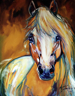 Horse Eye Painting - Palomino Wild Abstract by Marcia Baldwin