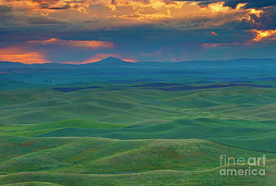 Palouse Stormrise Print by Mike Dawson