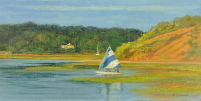 Pamet Harbor Early Evening Print by Phyllis Tarlow