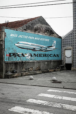 Pan American Vintage Ad II Print by Marco Oliveira