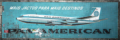 Pan American Vintage Ad V Print by Marco Oliveira