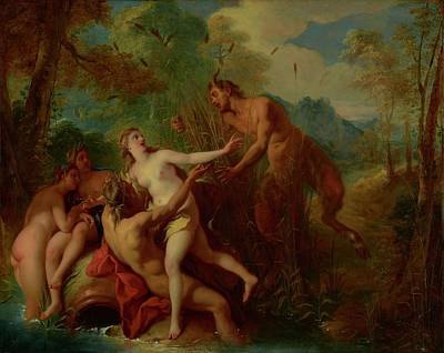 Centaur Painting - Pan And Syrinx by Mountain Dreams