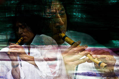 Bamboo Digital Art - Pan Flute Melody by Mark Courage