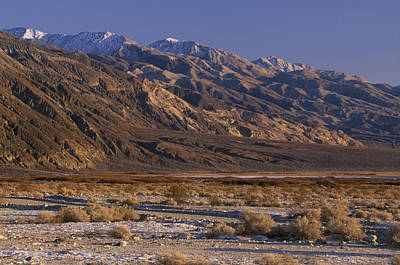 Panamint Valley And Range Print by Soli Deo Gloria Wilderness And Wildlife Photography