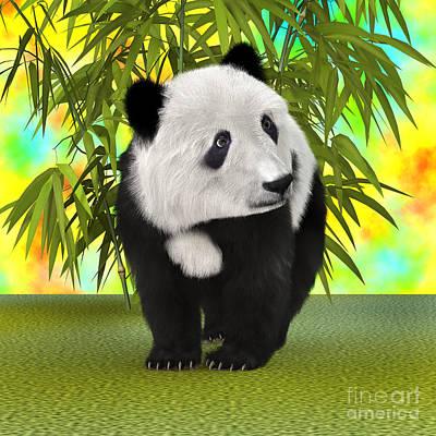 Digital Art - Panda Bear Cub by Design Windmill