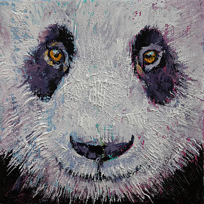 Furry Painting - Panda by Michael Creese
