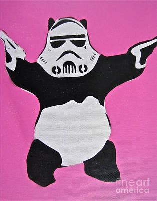 Panda Trooper Print by Tom Evans