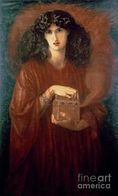 Pandoras Box Painting - Pandora by Dante Charles Gabriel Rossetti