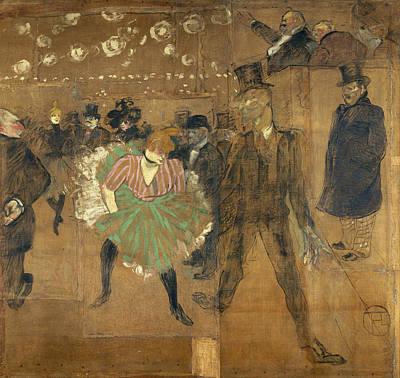 Bar Painting - Panneaux Pour La Baraque De La Goulue by Henri de Toulouse-Lautrec