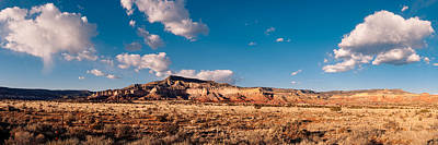 Panorama Of Ghost Ranch Mountains And Mesas - A Tribute To The Master - Abiquiu Northern New Mexico Print by Silvio Ligutti
