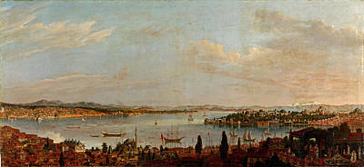 Painting - Panorama Of Istanbul by Antoine de Favray