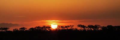 Panorama Of South African Sunset Print by Susan Schmitz