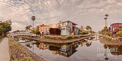 Marina Del Rey Photograph - Panorama Of Venice Beach Canals - Los Angeles California by Silvio Ligutti