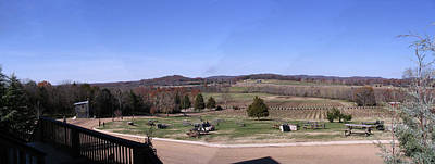 Franklin Tennessee Digital Art - Panorama View At Arrington Vineyards by Marian Bell