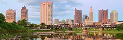 Photograph - Panoramic Scioto River View Of Columbus by Frozen in Time Fine Art Photography