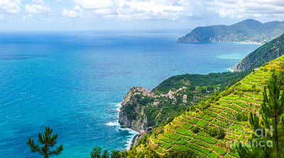 Italy Photograph - Panoramic View Of Beautiful And Famous Manarola, Cinque Terre, I by JR Photography