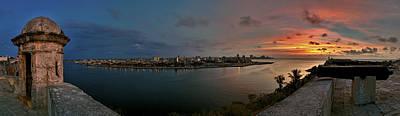 Panoramic View Of Havana From La Cabana. Cuba Print by Juan Carlos Ferro Duque
