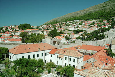 Old City Photograph - Panoramic View To Historical Buildings In The Old Town Of Dubrovnik, Croatia by Dani Prints and Images