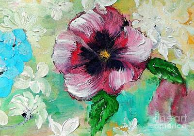 Floral Painting - Pansy Pleasure by Lisa Kaiser