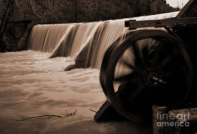 Panther Valley Water Wheel Print by Fred Lassmann
