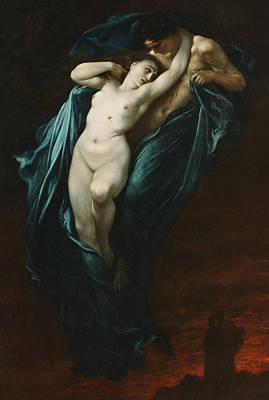 Paolo And Francesca Da Rimini  Print by Gustave Dore