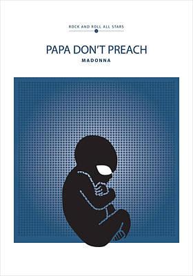 Papa Don't Preach -- Madonna Print by David Davies