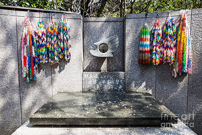 Paper Cranes, Sadako Peace Park Print by Voisin/Phanie