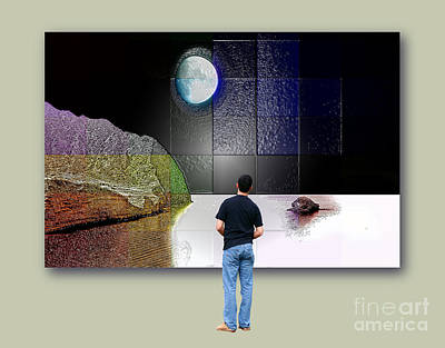 Sicily Digital Art - Paper Moon by Ayesha DeLorenzo