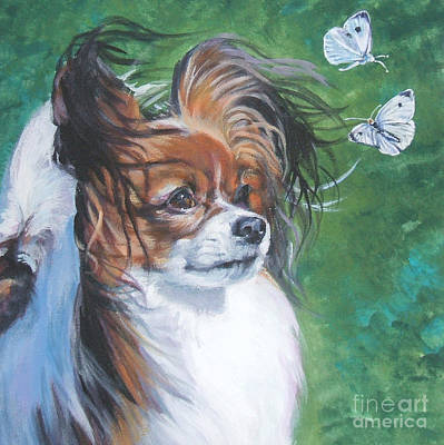 Cabbage Painting - Papillon And Butterflies by Lee Ann Shepard
