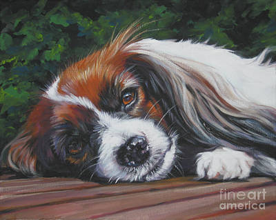 Papillon Dog Painting - Papillon Phalene by Lee Ann Shepard