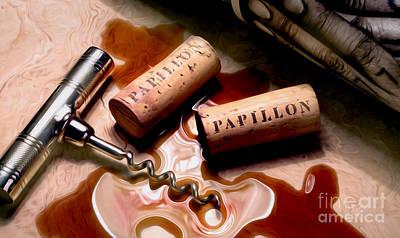 Winery Photograph - Papillon Uncorked by Jon Neidert