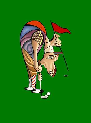 Golf Painting - Par For The Course T-shirt by Anthony Falbo