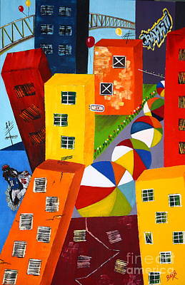 Hightower Painting - Parade The Day After by Barbara Teller