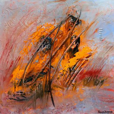 Abstract Painting - Paradigma by Thelma Zambrano
