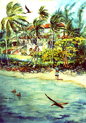 Decoraci Painting - Paradise At Dorado Puerto Rico by Estela Robles