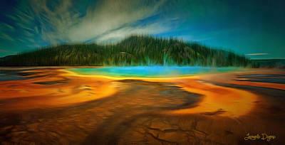 Park Digital Art - Paradise Island - Da by Leonardo Digenio