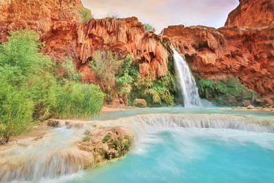 Grand Canyon Digital Art - Paradise On Earth by Lori Deiter
