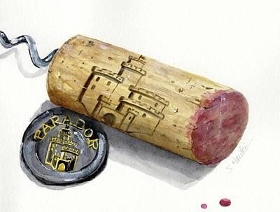 Parador Wine Cork Original by Sheryl Heatherly Hawkins