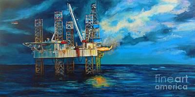 Sea Platform Painting - Paragon Hz1 by Cami Lee