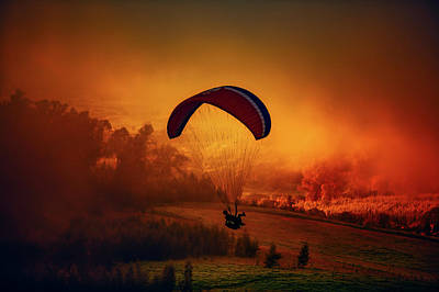 Parasail Serenity Print by Anton Repponen