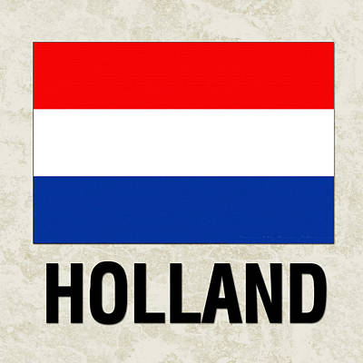 Netherlands Painting - Parchment Flag Holland by Elaine Plesser