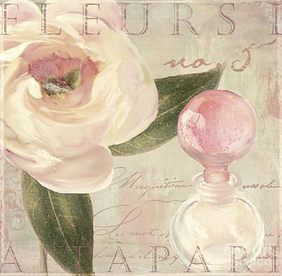 Parfum De Roses II Print by Mindy Sommers