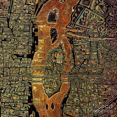 Maps Digital Art - Paris 1550 Old Map by Pablo Franchi