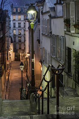 Quaint Photograph - Paris At Night by Juli Scalzi